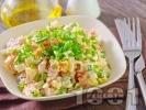 Рецепта Руска салата с картофи, моркови, грах, яйца и майонеза
